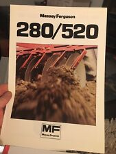 Massey Ferguson MF 280 520 disc harrow tractor brochure 1984