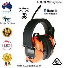 AM FM RADIO BLUETOOTH HEADSET HEADPHONES SAFETY EAR MUFFS WORK IPHONE GALAXY NEW
