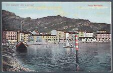 LECCO CITTÀ 18 PORTO GARIBALDI Cartolina primi '900
