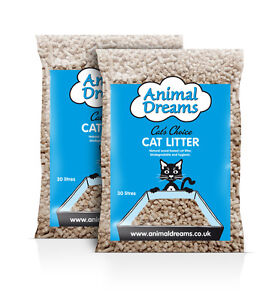 2x 30L BAGS OF ANIMAL DREAMS PREMIUM CAT LITTER FREE P+P UK MAINLAND ONLY