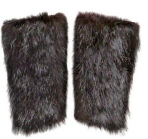 PRADA Black BEAVER FUR Cuffs/Arm Warmers, medium