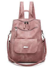 Fashion Leather Backpack Purse Casual Convertible Travel Shoulder Satchel Bags