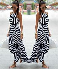 Sexy Boho Women Summer Floral Long Maxi Dress Casual Beach Dress Sundress New
