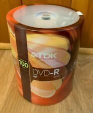 TDK DVD-R 1-16 x 4.7 GB Recordable Disks New Sealed 100 Pack