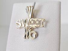 14K Gold Sweet 16 Charm Pendant 0.8gr