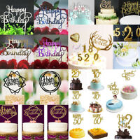 """Creative Cake Topper Candle """"Happy Birthday""""10th-60th Party Supplies Decorations"""