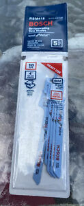 """5 Pack 4"""" Bosch 18 TPI Scroll Reciprocating Saw Blades RSM418 5PK QTY Available"""