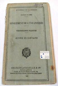 Règlement de l'Infanterie 3e partie Service en Campagne 1930