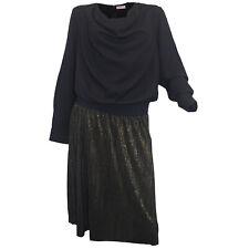 Kleid SHEEGO schwarz gold Abendkleid Webkleid Cocktailkleid Party Event