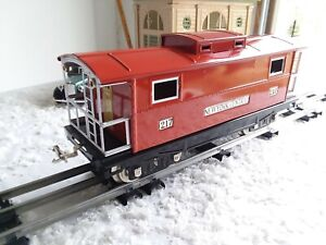 MTH Tinplate Traditions Standard Gauge # 217 Caboose - Red w/Nickel  # 10-1054