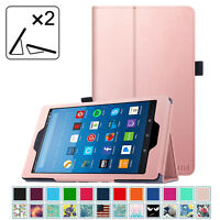 For New Amazon Fire HD 8 5th Gen 2015 Release Folio Case Stand Cover Wake/Sleep