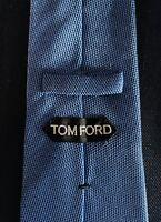 New Tom Ford Mens Necktie Tie Blue Seed Stitch 3.75 X 60.25