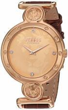 Versus by Versace Women's SOL060015 Sunnyridge Quartz Brown Leather Gold Watch