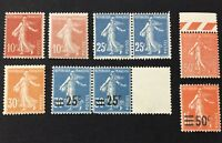 France Early 1900s Collection MNH
