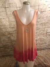 Free People We The Free Women Tie Dye Tank Tunic *H