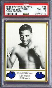 1986 Brown's Boxing Pernell Whitaker RC PSA 8 nm-mt