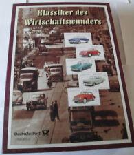 BUB Klassiker des Wirtschaftswunders, 5 Modelle, 1:8 spritzguß, 5 Briefmarken