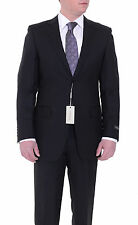 Canali Drop 8 Slim Fit 42L 52T Black Striped Two Button Wool Suit