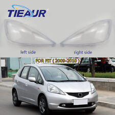 One Pair Headlight Transparents Lens Cover Replacement For Honda Fit 2008-2010