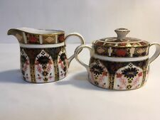 Royal Crown Derby Old Imari Creamer Covered Sugar Bowl 1st Quality $1,000