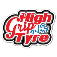 High Grip Tyre Sticker Decal JDM Car Drift Vinyl Funny Turbo