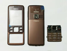 brown cell mobile Housing Cover Case Fascia skin Faceplate for Nokia 6300