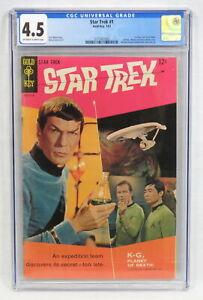 Gold Key Star Trek #1 CGC 4.5 OW/WP First Star Trek Comic Book Wood Zaccara 1967