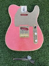 Pistols Crown Barncaster Tele BODY ONLY Guitar Handmade In USA Pint paisley