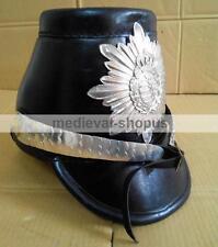 German WW2 leather shako helmet Napoleonic French Guard Reproduction Brass SH007