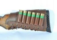Left Cartridge Holder Butt Stock Ammo Carrier Shotgun 100% Leather NEW