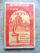 Pianta panoramica monumentale di Roma editore Mauro Giglia