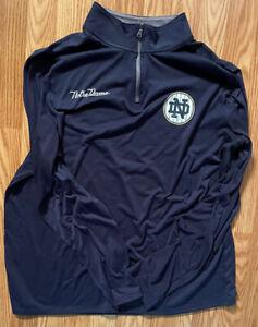 Notre Dame Football Team Issued Under Armour 2018 Shamrock Series 1/4 Zip XL