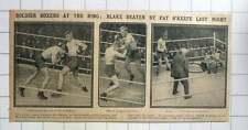 1915 Soldier Boxers At The Ring Cpl Pat O'keefe And Bandsman Blake