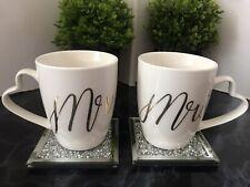 Mr And Mrs Mug Set of 2 Coffee Tea Cup Home Kitchen Wedding Mugs Brand new