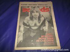 Sounds Magazine April 1982 Ozzy Osbourne, Marc Bolan, Simple Minds, Japan tour