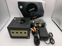 Nintendo Gamecube Console black GC w/box adapter controller NTSC-J b01