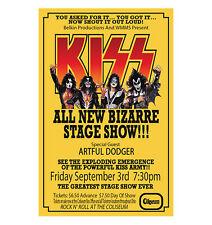 Kiss 1976 Cleveland Concert Poster