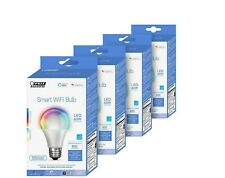Feit Electric Wi-Fi Smart Bulbs, 4-pack Model OM60/RGBW/CA/AG/4 #9 (1308