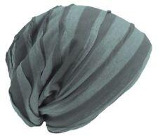 Cool4 Vintage 2 Farben Beanie Stripes Oliv-Dunkelgrün Slouch Mütze VSB24