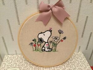 PERSONALISED SNOOPY Valentines/ Wedding/ Anniversary Embroidered Hoop Decor/Gift