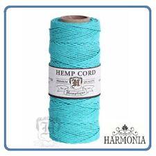 HEMPTIQUE 100% Pure  HEMP CORD SPOOLS  1mm Cord 62.5m spool  TEAL