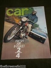 CAR MAGAZINE - 2 WHEELS vs 4 WHEELS - JULY 1969
