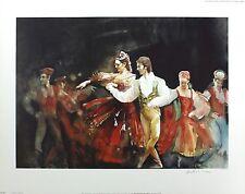 "Barnes-mellish ""muzurka de coppelia"" ballet sgd ltd! taille: 55cm x 70cm neuf rare"