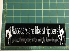 Racecar Strippers Bumper Car Laptop Vinyl Decal Sticker