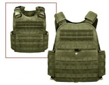 Olive Drab Military MOLLE Tactical Plate Carrier Assault Vest Rothco 8924