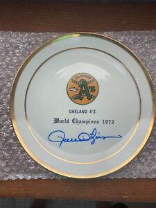 Vintage Oakland A's 1972 World Series Plate Rollie Fingers Signed Auto JSA COA