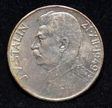 1949 CZECHOSLOVAKIA Statlin SILVER COIN 100 KORUN