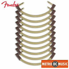 """10-Pack Fender Deluxe Series 6"""" Tweed Right-Angle Pedal Patch Cable Cord 1/4 NEW"""