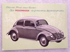 VW(Volkswagen) 1950 Post Card 1st On eBay Car Poster. Own It!