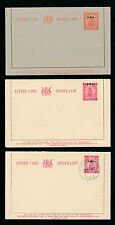 South West Africa 1930-49 Stationery Lettercards Ship Opt Swa 3 Items Mint + Cto